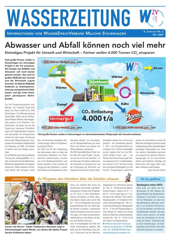 Wasserzeitung 02/2009 » WasserZweckVerband MalchinStavenhagen