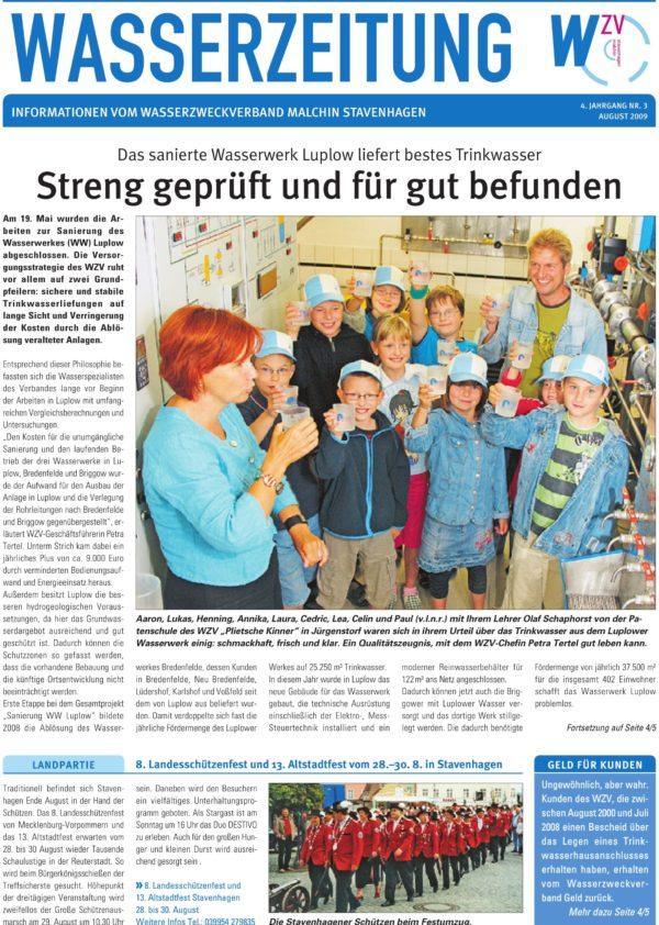 Wasserzeitung 03/2009 » WasserZweckVerband MalchinStavenhagen