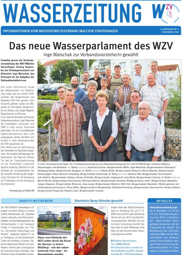 Wasserzeitung 04/2009 » WasserZweckVerband MalchinStavenhagen