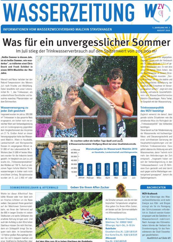 Wasserzeitung 03/2010 » WasserZweckVerband MalchinStavenhagen