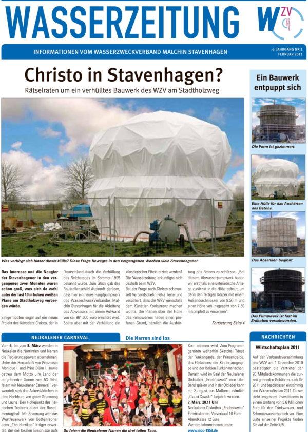Wasserzeitung 01/2011 » WasserZweckVerband MalchinStavenhagen