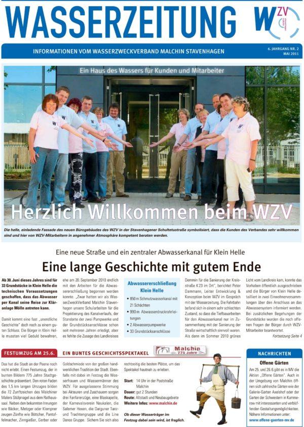 Wasserzeitung 02/2011 » WasserZweckVerband MalchinStavenhagen
