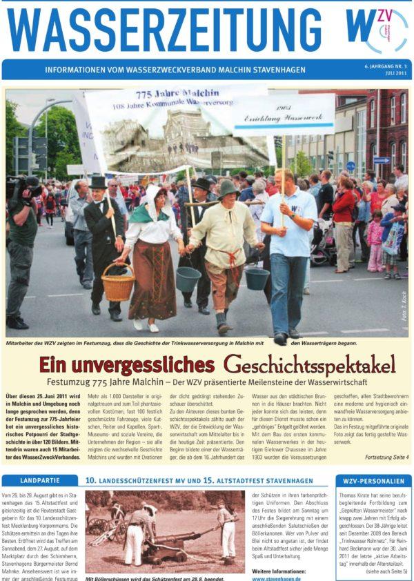 Wasserzeitung 03/2001 » WasserZweckVerband MalchinStavenhagen