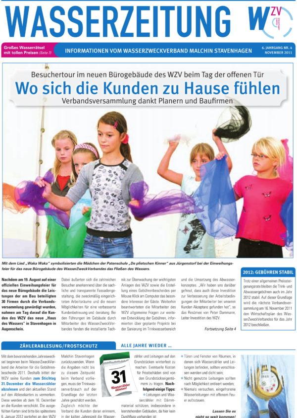 Wasserzeitung 04/2011 » WasserZweckVerband MalchinStavenhagen