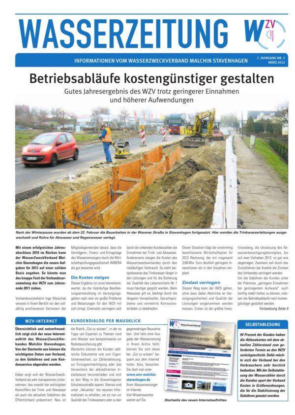 Wasserzeitung 01/2012 » WasserZweckVerband MalchinStavenhagen