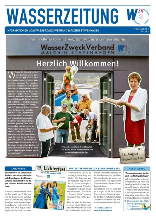 Wasserzeitung 03/2012 » WasserZweckVerband MalchinStavenhagen