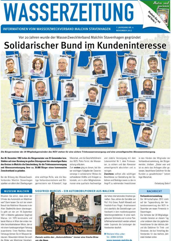 Wasserzeitung 04/2012 » WasserZweckVerband MalchinStavenhagen