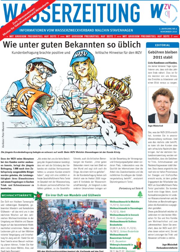 Wasserzeitung 04/2010 » WasserZweckVerband MalchinStavenhagen