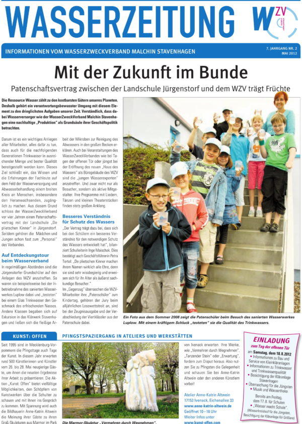 Wasserzeitung 02/2012 » WasserZweckVerband MalchinStavenhagen