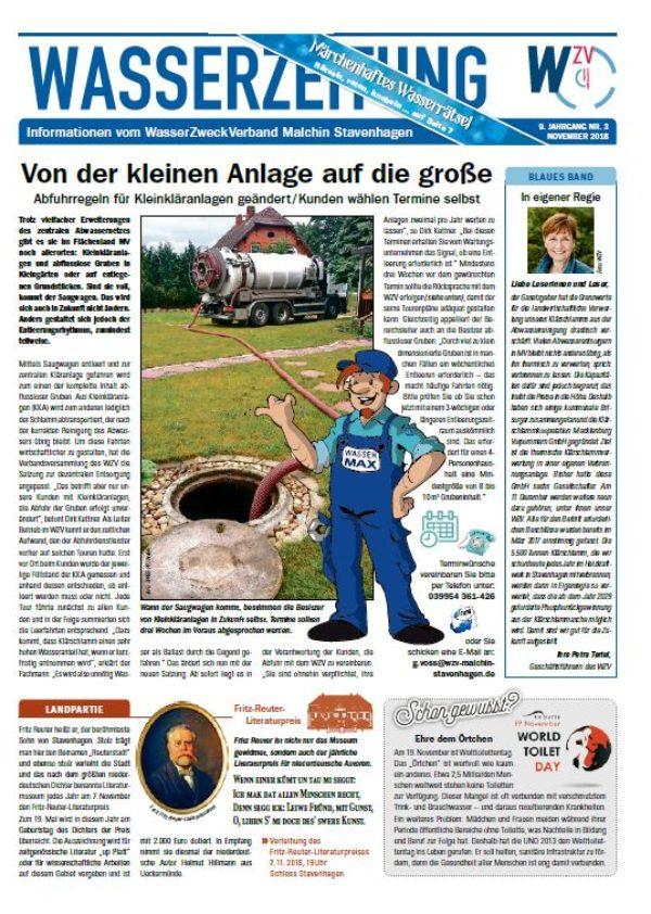 Wasserzeitung 11/2018 » WasserZweckVerband MalchinStavenhagen