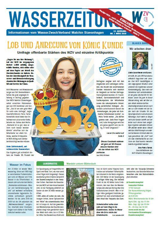 Wasserzeitung 03/2019 » WasserZweckVerband MalchinStavenhagen