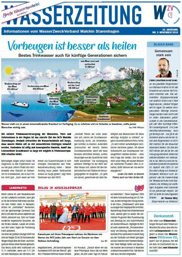 Wasserzeitung 11/2019 » WasserZweckVerband MalchinStavenhagen