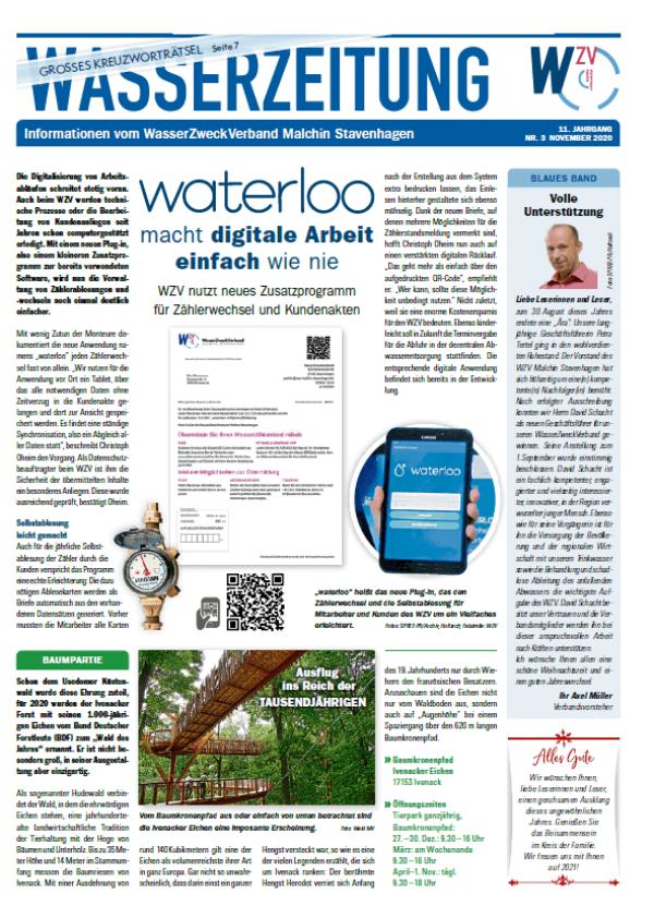 Wasserzeitung 11/2020 » WasserZweckVerband MalchinStavenhagen