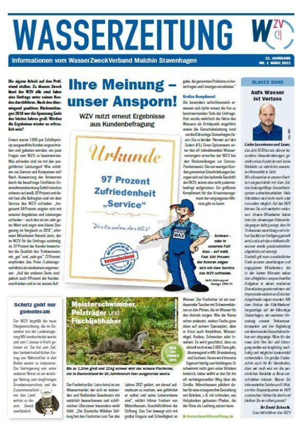 Wasserzeitung 03/2021 » WasserZweckVerband MalchinStavenhagen